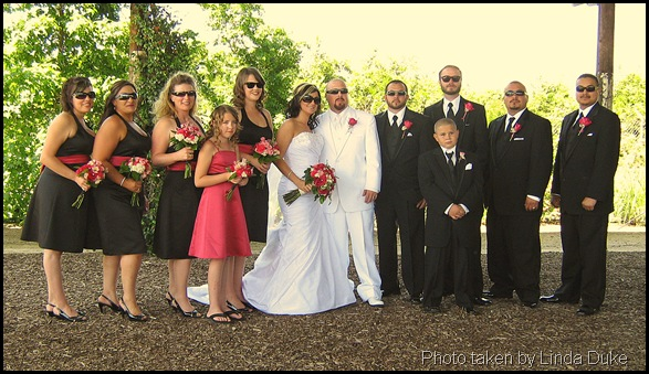 Wedding Party in sunglasses