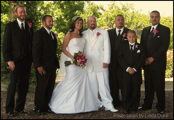 Groom's man, bride and groom
