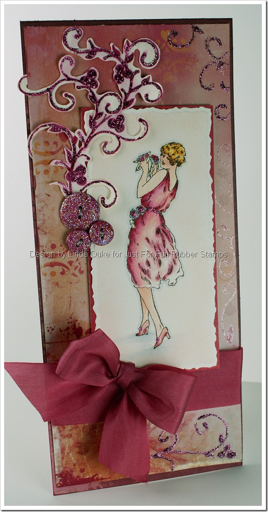 Pretty Lady - Just For Fun Rubber Stamps