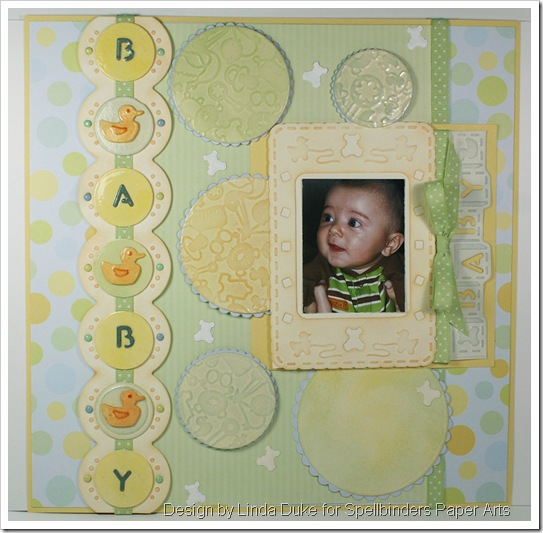 1209 LD Baby Scrapbook Layout - Blog Frenzy