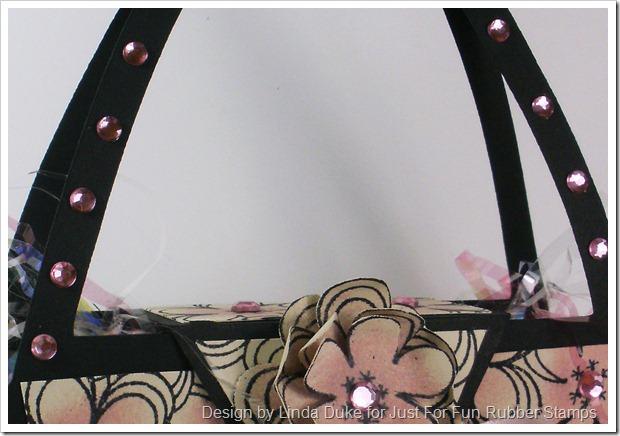 3-19-10 Black, Cream and Pink Purse 3