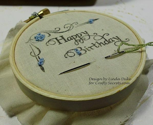 Happy Birthday with hoop