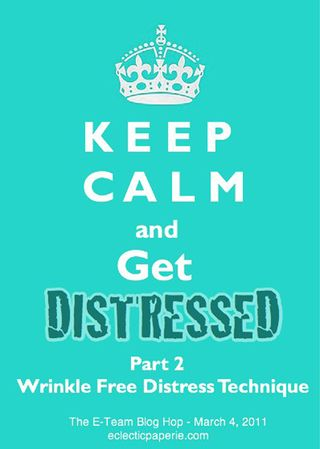 Wrinkle Free Distress Blog Hop